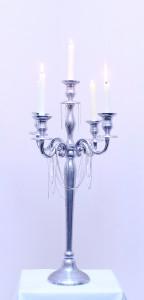 Silver 5 piece Candelabra 75cm