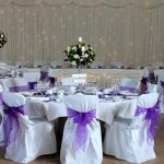 main hall purple candelabra