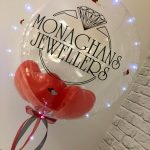 "Super Personalised 24"" Clear Deco Bubble with led lights - £33"
