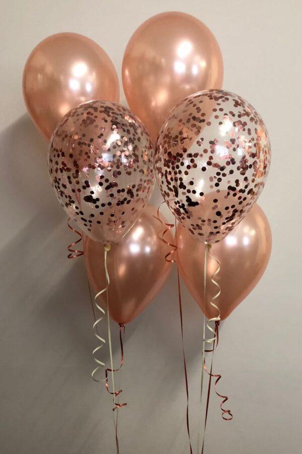 Confetti 3 balloon bouquet