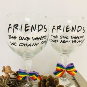 FRIENDS Gin Glass