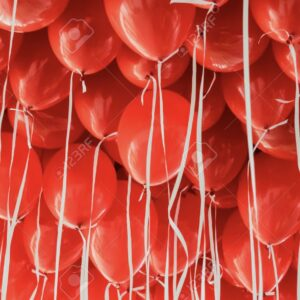 "10 x 11"" Red Latex Balloons"