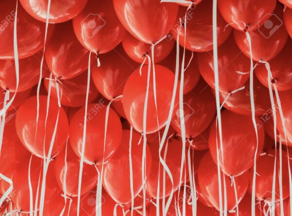 """10 x 11"""" Red Latex Balloons"""