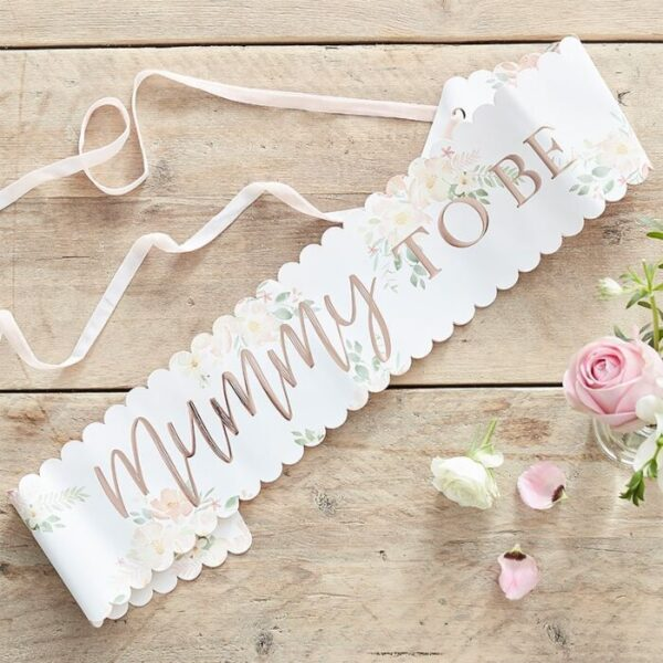 Floral Mummy to be Sash